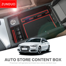 ZUNDUO Car central armrest box For Audi A4 A5 A5S 2009-2017 Interior Accessories Stowing Tidying Auto Accessories