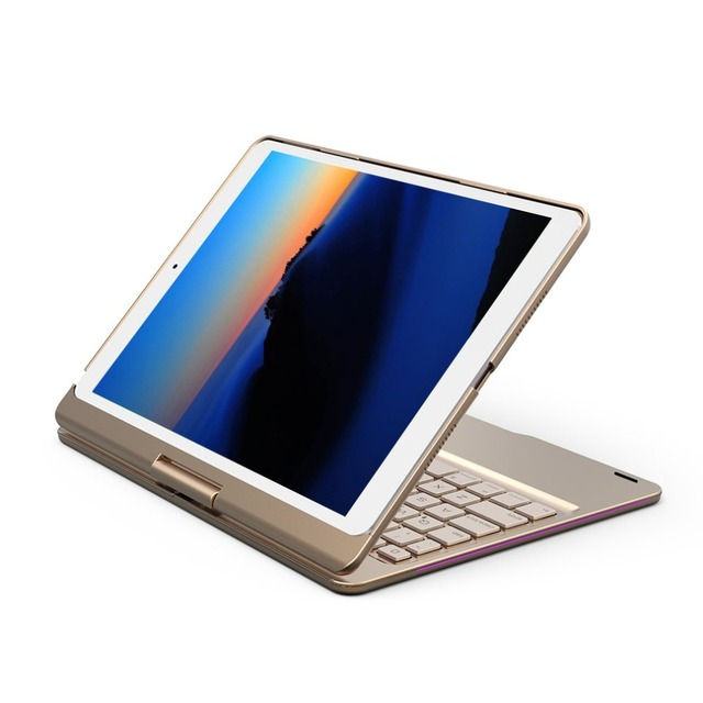 ONLENY 360 Degree Rotary Colorful Backlight For Apple Tablet Keyboard
