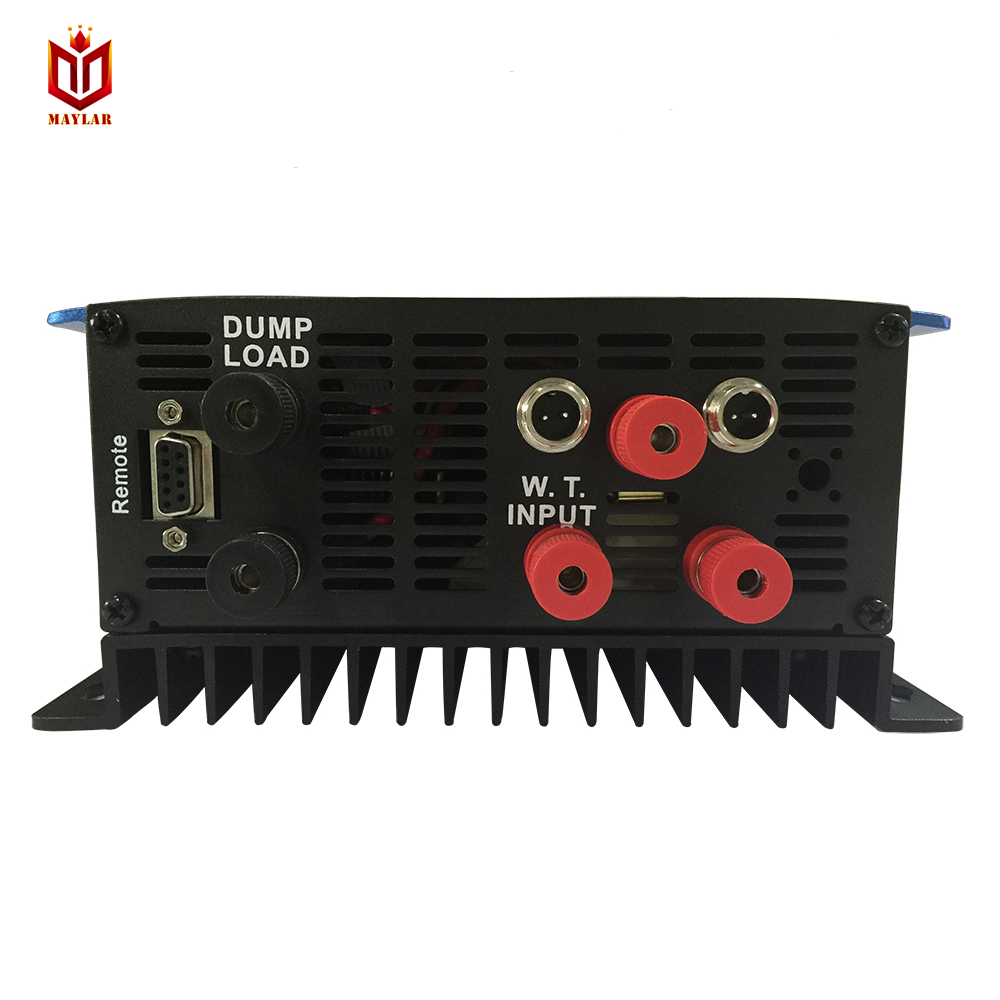 MAYLAR 2000W Wind Grid Tie Inverter Pure Sine Wave Built-in Dump Load Controller For 3 Phase 48V (AC Wind Turbine) 180-260VAC micro inverter 600w on grid tie windmill turbine 3 phase ac input 10 8 30v to ac output pure sine wave