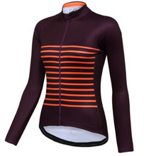 2016 Women Long sleeve Cycling Jersey Wicking Bicycle Clothing MTB Road Bike clothes