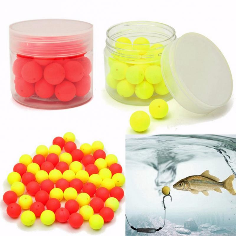 100Pcs Carp Baits Float Fishing Lures Pop Up Smell Ball Beads 8mm//10mm//14mm
