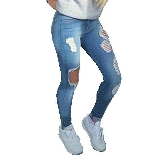 Freund Loch Zerrissene Jeans Frauen Hosen Kühlen Denim Vintage Gerade Jeans  Für Mädchen Hohe Taille Casual 5fba2bafd2