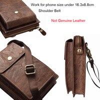 Dual Pouch Leather Shoulder Belt Mobile Phone Case For Nokia 6 2018 Leagoo M9 Pro Power