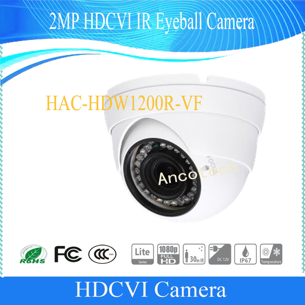 Free Shipping Original English Security Camera CCTV 2MP HDCVI IR Eyeball Digital Video Camera without Logo HAC-HDW1200R-VF цена