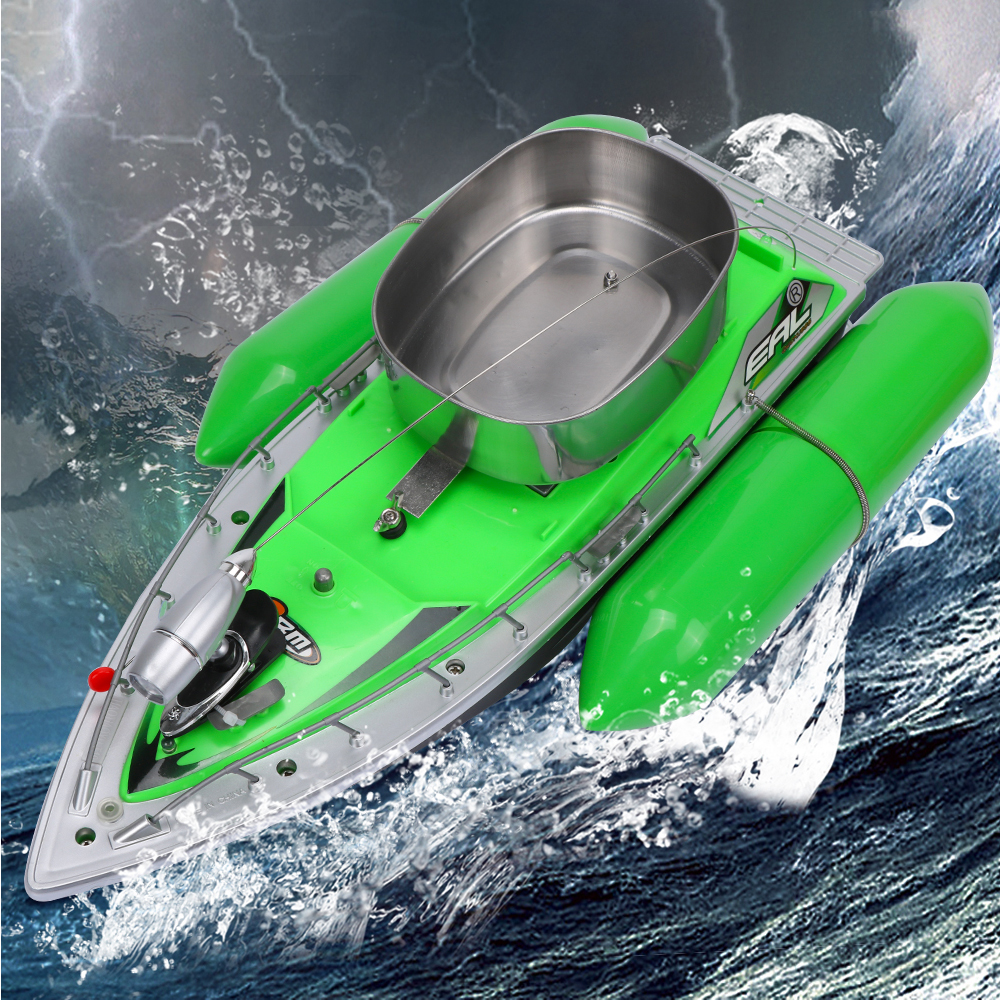 Mini RC Carp Bait Fishing Fish Finder Boat Course 300M Remote Control with LED Light 5-7 Hours Fishing Tools