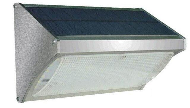 Telecomando w alluminio solare led wall pacchetto con sensore