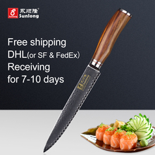 Sunlong Filleting Knives VG10 steel core 67 layers Damascus steel cuisine sushimi knife ultra-thin Slicing Knives kitchen knife