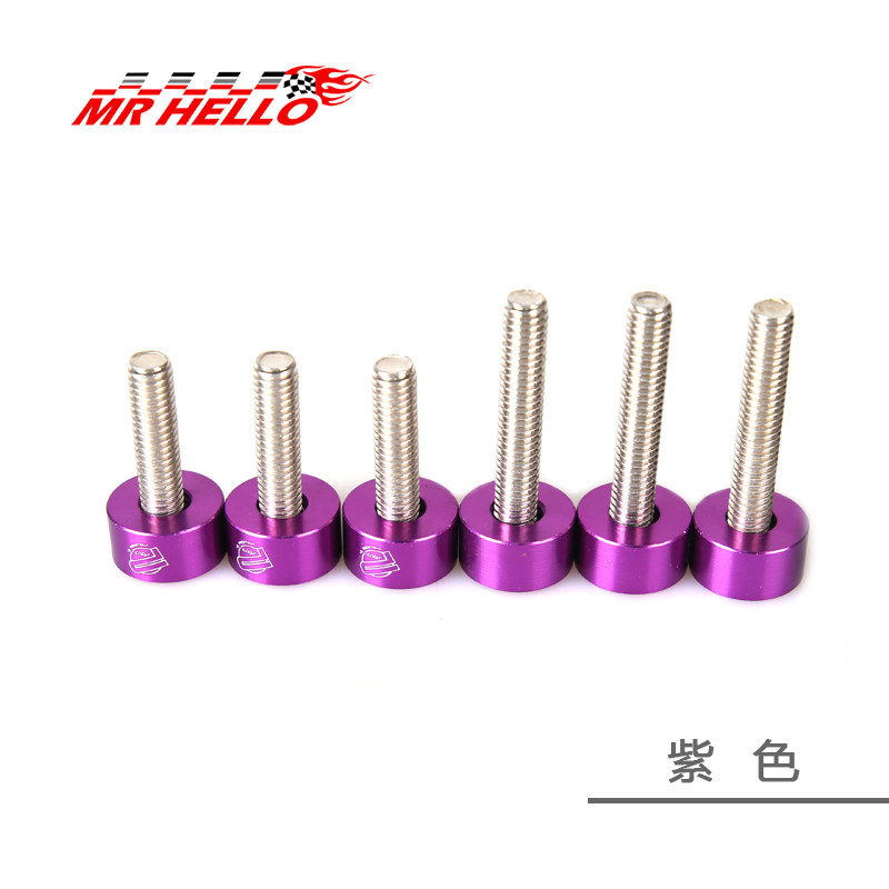 M6 6 шт./упак. jkdreamer Алюминий шайбами и болт для honda воздуха впускной коллектор двигателя - Цвет: purple