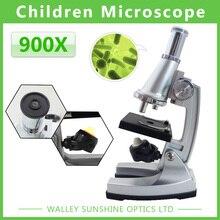Подарок на день рождения 100X400X900X Студент Монокуляр Биологический Микроскоп Комплект Игрушки с Отражающее Зеркало С Подсветкой Лампы