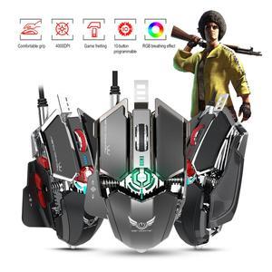 Image 4 - ZERODATE LD MS500 Adjustable 4000DPI RGB Breathing Light Gaming Mouse Professional Mechanical Gaming Mouse Ergonomic Game Mice