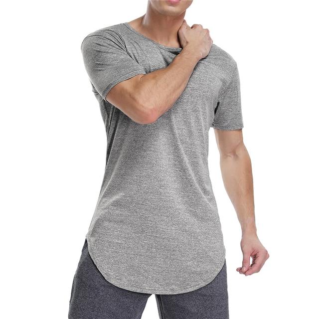 Mens Workout Shirts Gym Tee Shirt Short Sleeve T Shirt Sport Homme