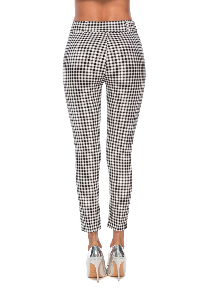 HTB14eoEacrrK1RjSspaq6AREXXar - Benuynffy Vintage Button High Waist Plaid Pants Summer Office Lady Workwear Trousers Women Elegant Side Zipper Pencil Pants