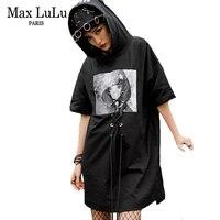 Max LuLu 2018 Luxury Korean Funny Girls Hooded Streetwear Women 3d Printed T Shirts Harajuku Ropa