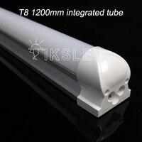 Hot 10pcs Slot Free Shipping AC85 265V T8 Led Tube 1200mm 18W High Power Energy Saving