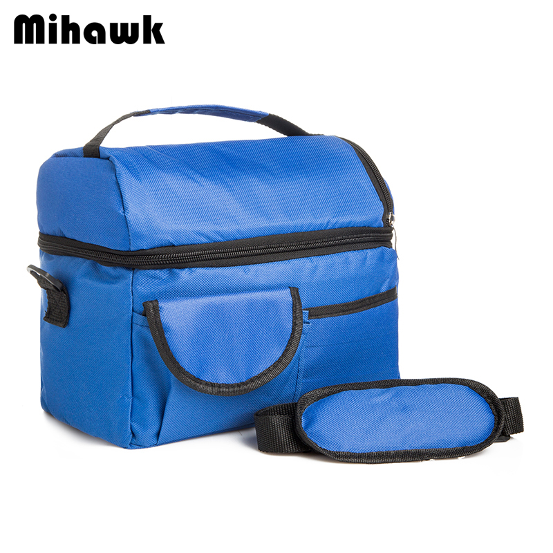 Mihawk 2 Layers Insulated Cooler Bag Thermal Lunch Box Picnic Food Storage Tote Bag Wholesale Bulk Lot Accessory Supply Product 2 layers family cooler bags thermal iced drink lunch box picnic food storage shoulder handbag pouch accessories supplies product