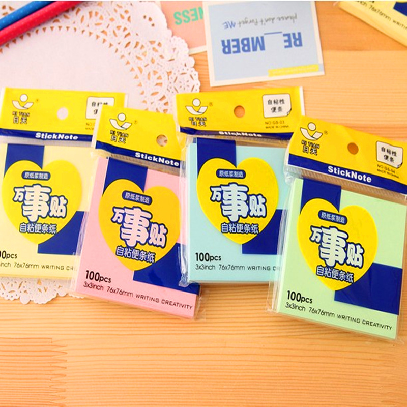 NNRTS post office stickers for cheat muti Color note post-it note printed 76 * 76 mm memo pad