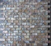 11pcs Shell mosaic tiles; bathroom floor tile backsplash mother of pearl wall tiles, kitchen backsplash tile