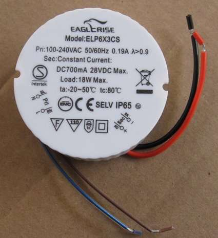 Free Shipping 1   9X1W LED Power Supply ELP9X1CS,SEMKO,SELV