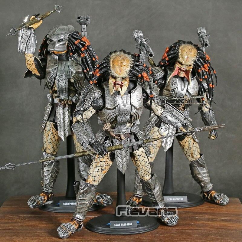 뜨거운 장난감 1/6 avp 외계인 대 프레데터 흉터 프레데터 ver. 2.0 mms190 pvc 액션 피규어 소장 모델 장난감-에서액션 & 장난감 숫자부터 완구 & 취미 의  그룹 1