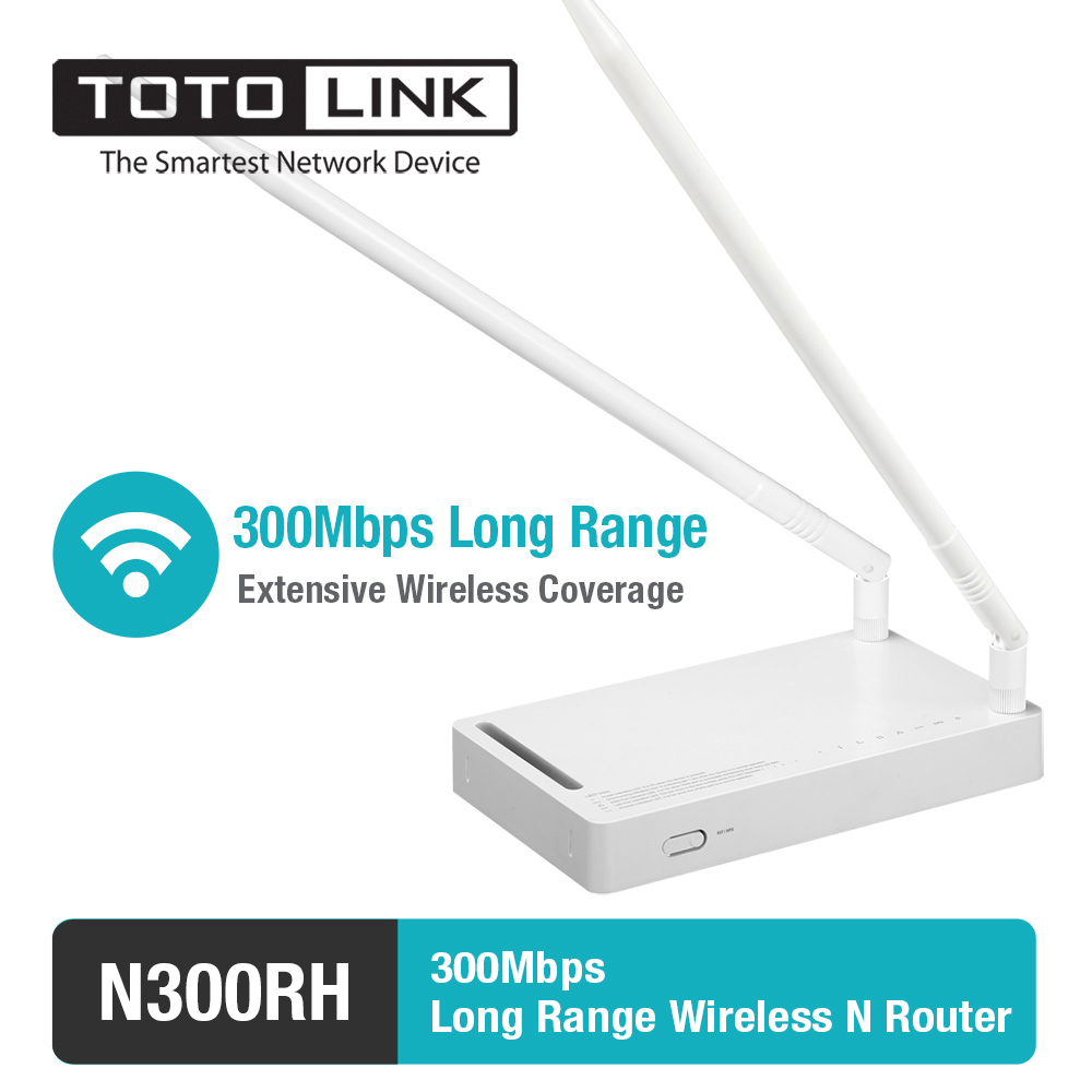 TOTOLINK N300RH 300Mbps WiFi Router with Wireless Repeater and AP in One, Two 11dBi Detachable Antennas, 500mW High Power