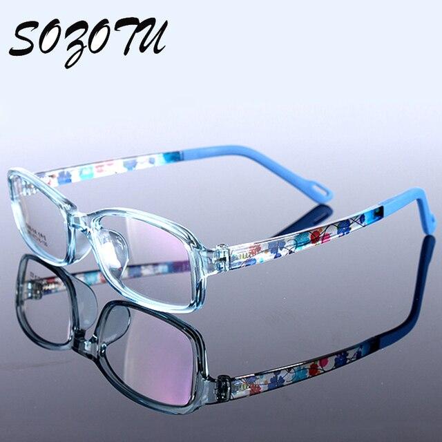9773399841 Niños Estudiante de Montura de gafas Miopía TR90 Marco Óptico Anteojos  Recetados Gafas Para Niños Para