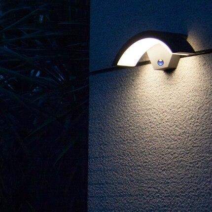 GS сертифицированный интеллектуальные промышленный светильник Датчик сад бра 220 В-240 В современный Smart LED беседка наружного освещения ...