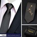 Embroideried Em Laços Do Pescoço Dos Homens da marca Novo Design de Moda Elegante Laço Estreito Para O Sexo Masculino Camisa Laço Etiqueta de Alta Qualidade Laços de Casamento