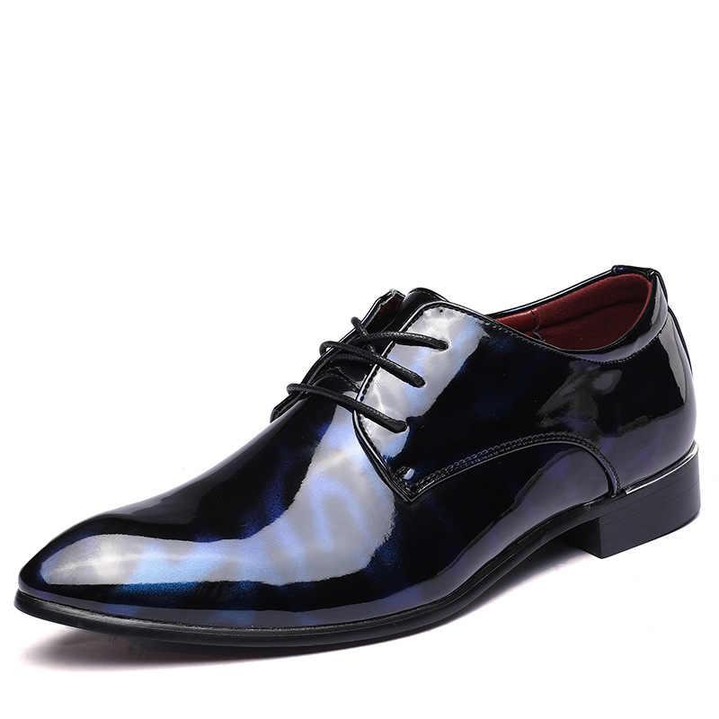 COSIDRAM hommes chaussures formelles bout pointu affaires mariage en cuir verni Oxford chaussures pour hommes chaussures habillées grande taille 49 50 RME-321