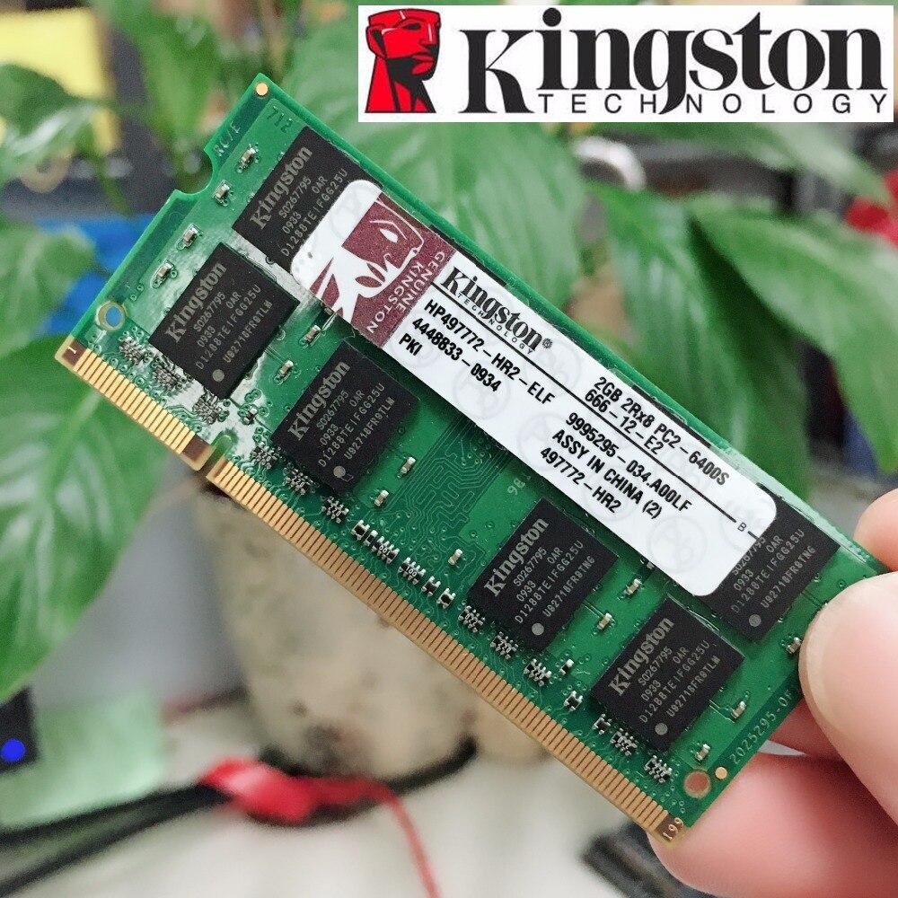 Kingston RAM 2 gb 2g PC2 DDR2 800 mhz 800 mhz 6400 6400 s Speicher RAM Memoria Modul Notebook laptop 100% original authentischen