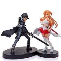 16 cm Anime Sword Art Online SAO Şekil I Asuna Yuuki Kirito 6