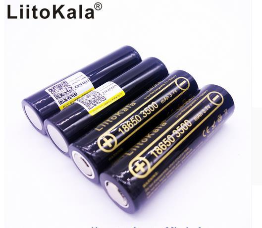 LiitoKala Lii 35A 18650 3500 mah 3.7 v ליתיום נטענת סוללה 30A ליתיום סוללה גבוהה ניקוז עבור Flashinglight