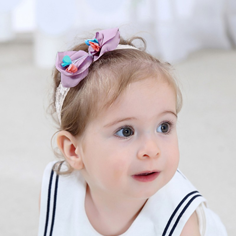 Hot Bow Tie Headwear Toddler Kids Girl Lace Flower Hair Band Baby Headband Accessories