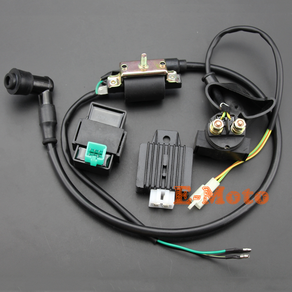 ignition coil 5 pin cdi 12v regulator rectifier relay for 50 70 90 110 125 cc [ 1000 x 1000 Pixel ]