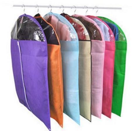 Candy Color Transparent Dustproof Cover Clothes Bag Wardrobe Storage Bags Cloth Hanging Garment Suit Coat Cloth Dust Cover