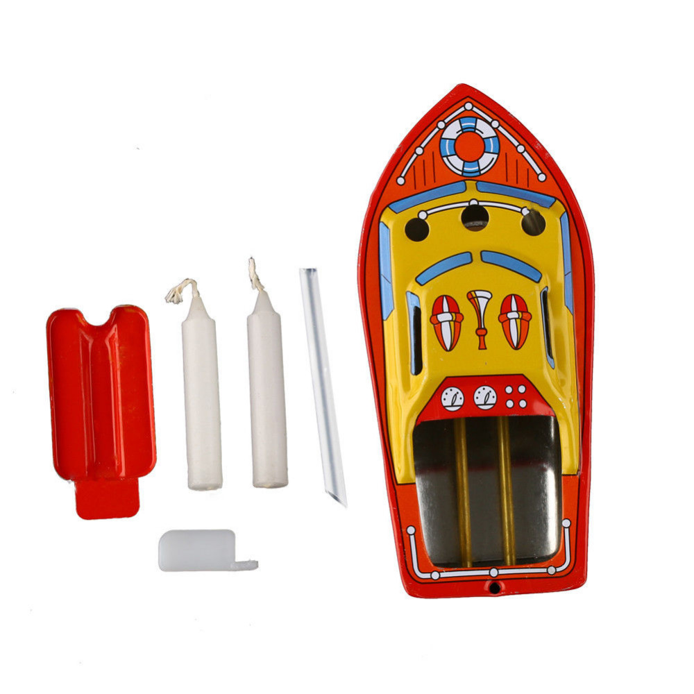 Tin-Toys Boat Retro Vintage Antique Ship Candles Collectable Childhood Put-Put Powered