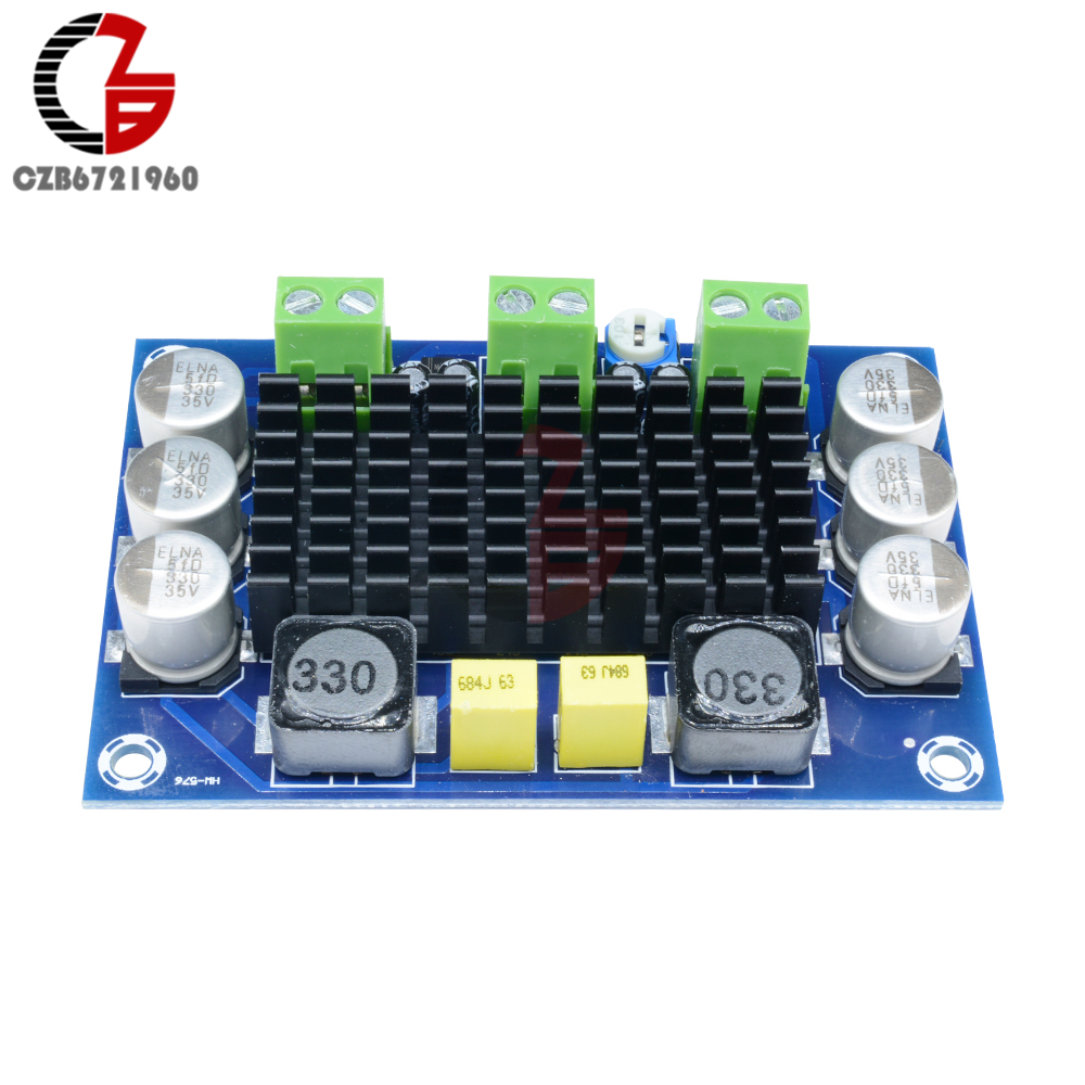Image 3 - 100W TPA3116 Power Amplifier Board DC 12V 24V TPA3116DA Mono Channel Digital Stereo Audio Amplifier Board High Power AMP Module-in Instrument Parts & Accessories from Tools