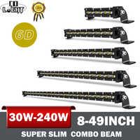 CO LICHT 30W 60W 90W 120W 150W 180W 210W 240W Led Bar 6D Led Licht Bar Combo Auto Offroad Fahr Licht für 4X4 Jeep SUV 12V 24V