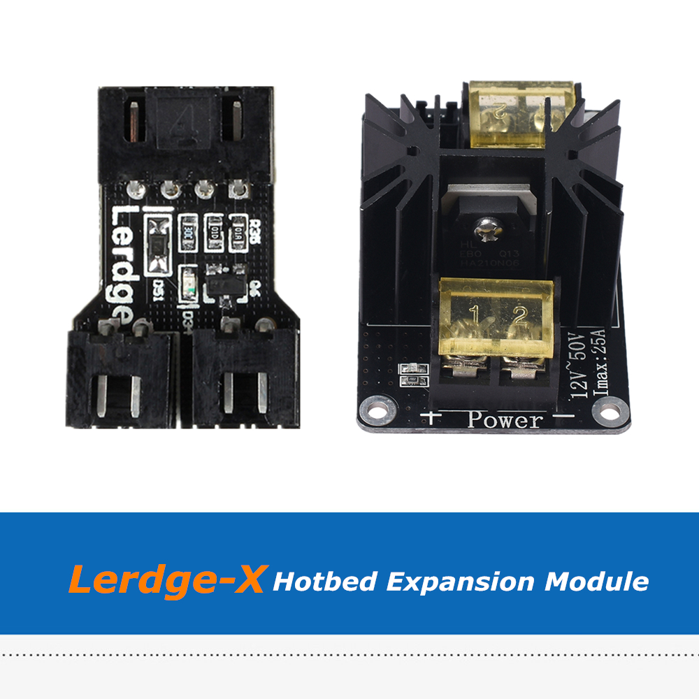 Lerdge 3D Printer Parts Hotbed Adapter Module + High Power Heat Bed Expansion MOS Module For Lerdge X Board 0957 2157 power module for printer parts used
