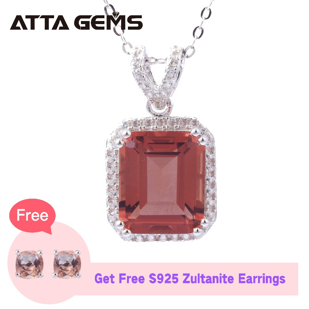 Zultanite Sterling Silver Women's Classic Pendant 7.5 Carats Created Zultanite S925 Pendants Special Color Change Wedding Gifts zultanite sterling silver stud earrings for women party style simple design created zultanite silver earrings color change stone