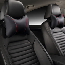 Car Neck Pillow Leather Seat Headrest Car Rest Cushion Car-Styling  1Pair Car seat cushion headrest.