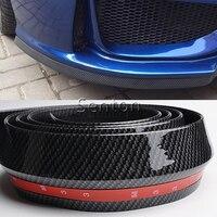 Car Carbon Fiber Front lip 2.5M For Opel Astra H J G Insignia Mokka Corsa D Vectra C Zafira b Meriva For Seat Leon 2 Ibiza Altea