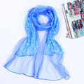 2017 New Stylish Lady Elegant Lace Rose Floral Shawls Scarves Hot Sale Women's Voile Warp Pashmina Muffler Stole 160*50 cm