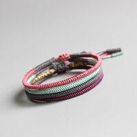 Eastisan Tibetan Buddhist Handmade Knots Lucky Rope Bracelets For Women Men Buddhism Braided Jewelry Multi Colors