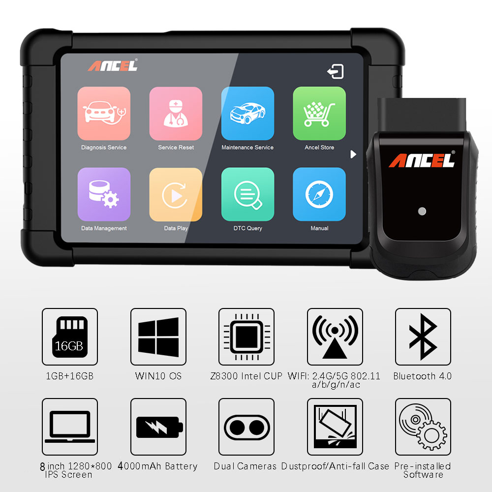 Image 4 - ANCEL X5 WIFI OBD2 Automotive Scanner Full Systems Car Diagnostics ABS SRS Oil EPB DPF Diagnostic Tool OBD Scanner Free Update-in Code Readers & Scan Tools from Automobiles & Motorcycles