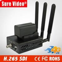 DHL Free Shipping 4G HEVC / H.265 WIFI SDI Video Encoder SDI Transmitter Live Broadcast Encoder Wireless H265 IPTV Encoder