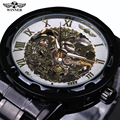 Vintage Skeleton Male Relogio Masculino Luxury Automatic Watches Analog Full Steel Casual Watch Military Men Mechanical Watch