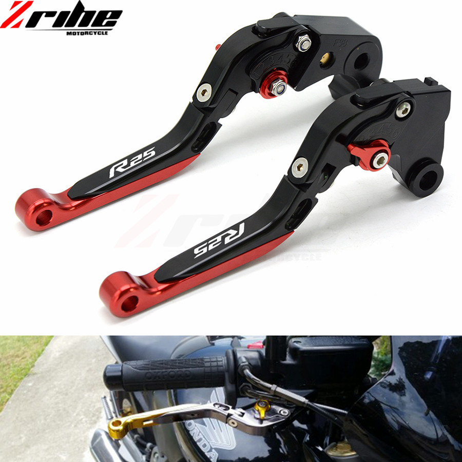 Motorcycle Accessories CNC Aluminum Adjustable Short Brake Clutch Levers for Yamaha YZF R25 YZFR25 2015 2016 2017 15 16 17