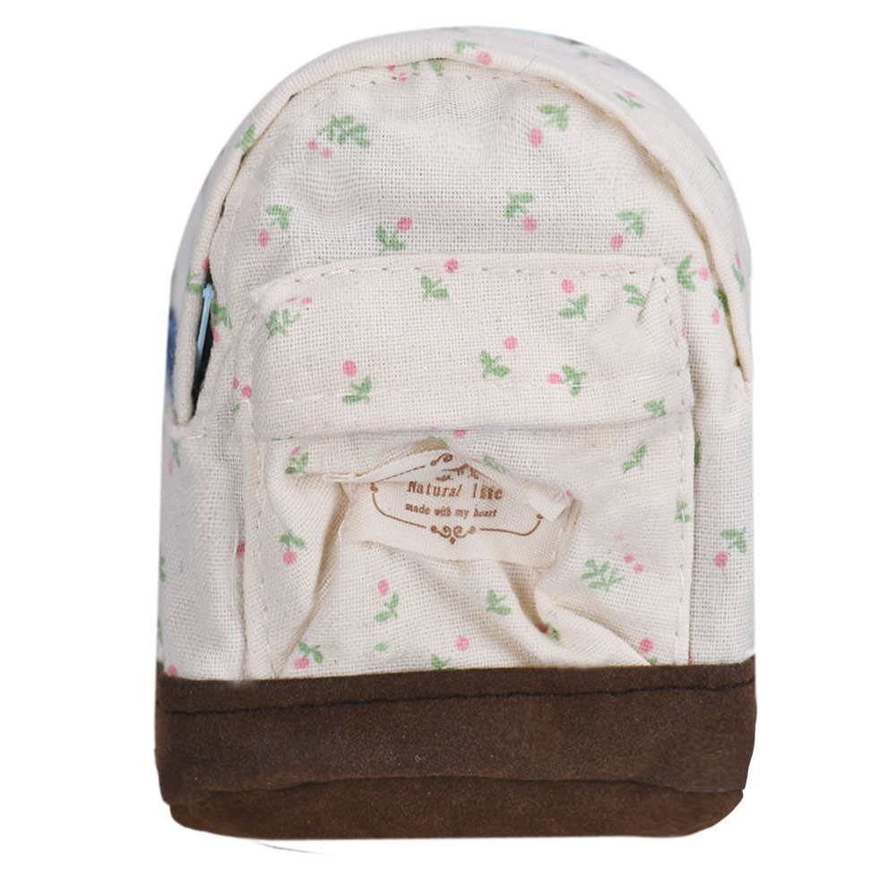 все цены на  Canvas Mini Wallet Coin Purse Floral Printing Bags Kids Girls Money Pouch Card Key Holders Bolsa Feminina  онлайн