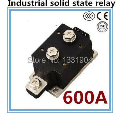 LED indicator DC to AC SSR-H600ZF 600A SSR relay input DC 3-32V output AC1200V industrial solid state relay normally open single phase solid state relay ssr mgr 1 d48120 120a control dc ac 24 480v