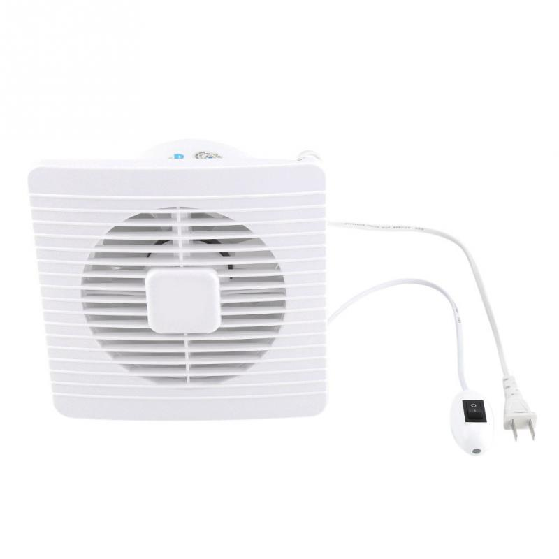 20W 220V Wall Mounted Exhaust Fan Low Noise Home Bathroom Kitchen Garage Air Vent Ventilation-in
